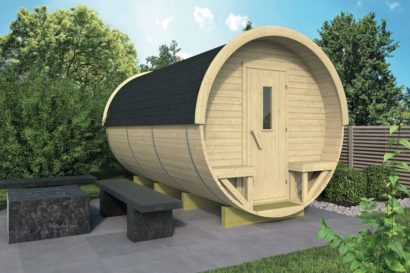 Barrel Log Cabin Tuindeco 43x7020 P01