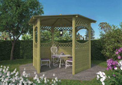 Curved Lattice Gazebo Tuindeco 42x0125-P01