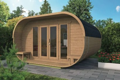Log Cabin Oval Tuindeco 43x7026 P01