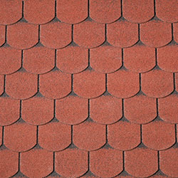 Shingles Red Curved 40x9981