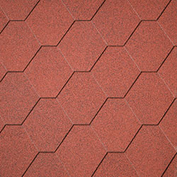Red Hexagonal Shingles –  40.9986