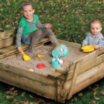 Sandpit with bench lid Tuindeco 16x6180