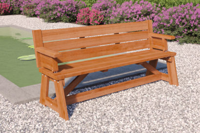Vancouver hardwood picnic table bench Tuindeco 30x0002a